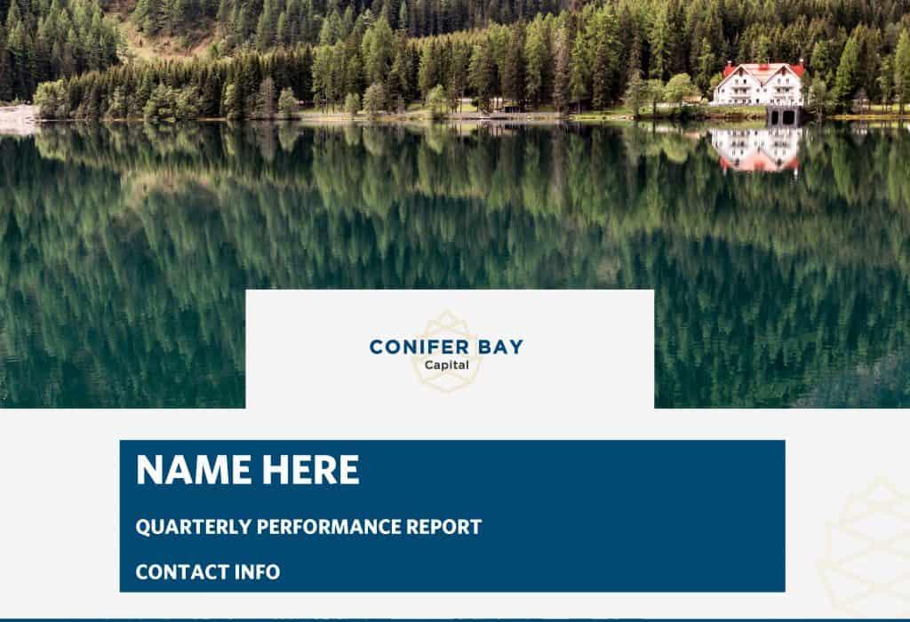 Conifer Bay Quarterly Report Cover