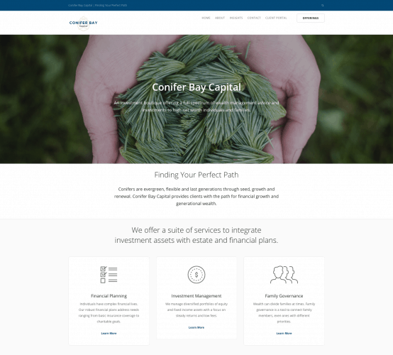 Conifer Bay Capital Homepage